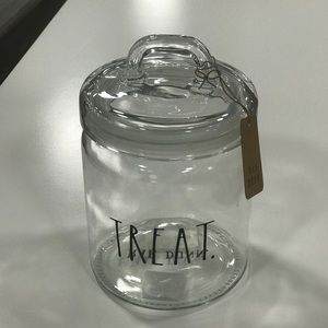 Rae Dunn Brand New glass TREAT CANISTER